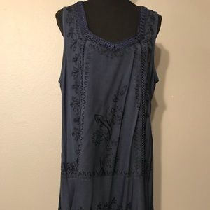 Sleeveless Tunic Dark Blue